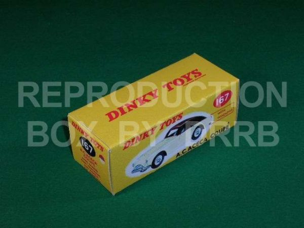 Dinky #167 A. C. Aceca - Reproduction Box ( 2-tone, Cream and Brown )